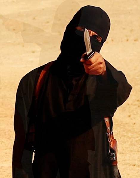 Jihadi John video grabs from Steven Sotloff beheading video